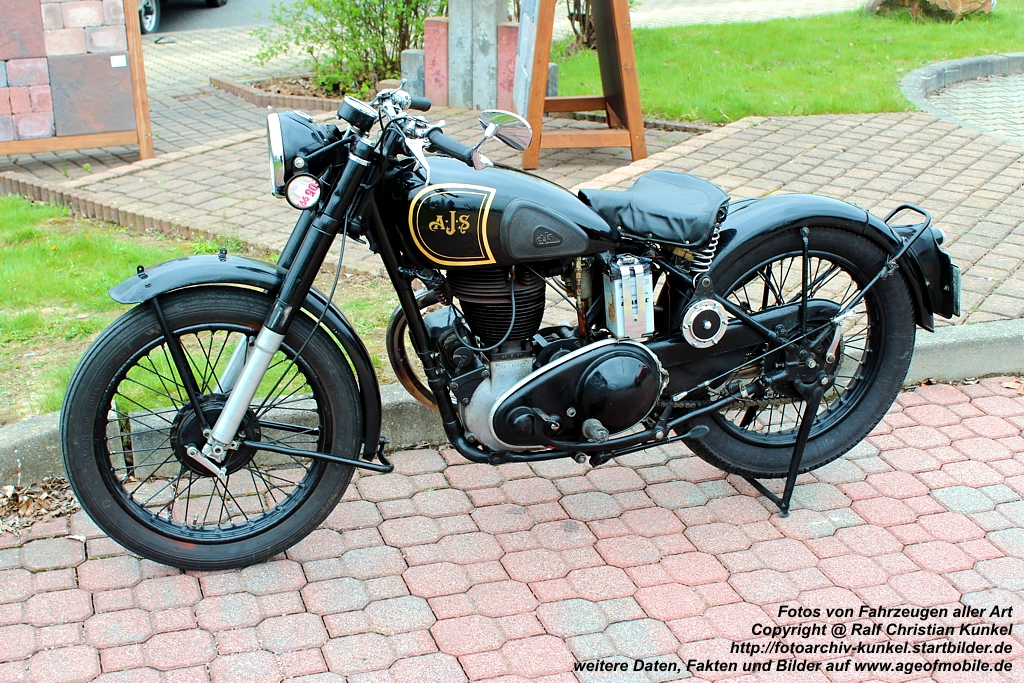 ajs model 18 500 ccm motorrad bauzeit 1945 1966. Black Bedroom Furniture Sets. Home Design Ideas