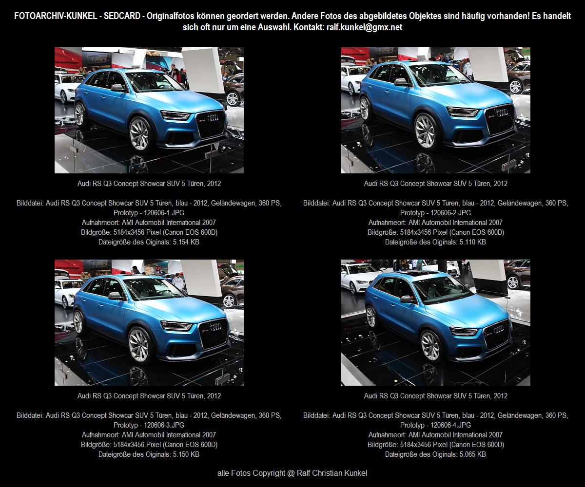 audi rs q3 concept showcar suv 5 t ren blau vorstellung. Black Bedroom Furniture Sets. Home Design Ideas