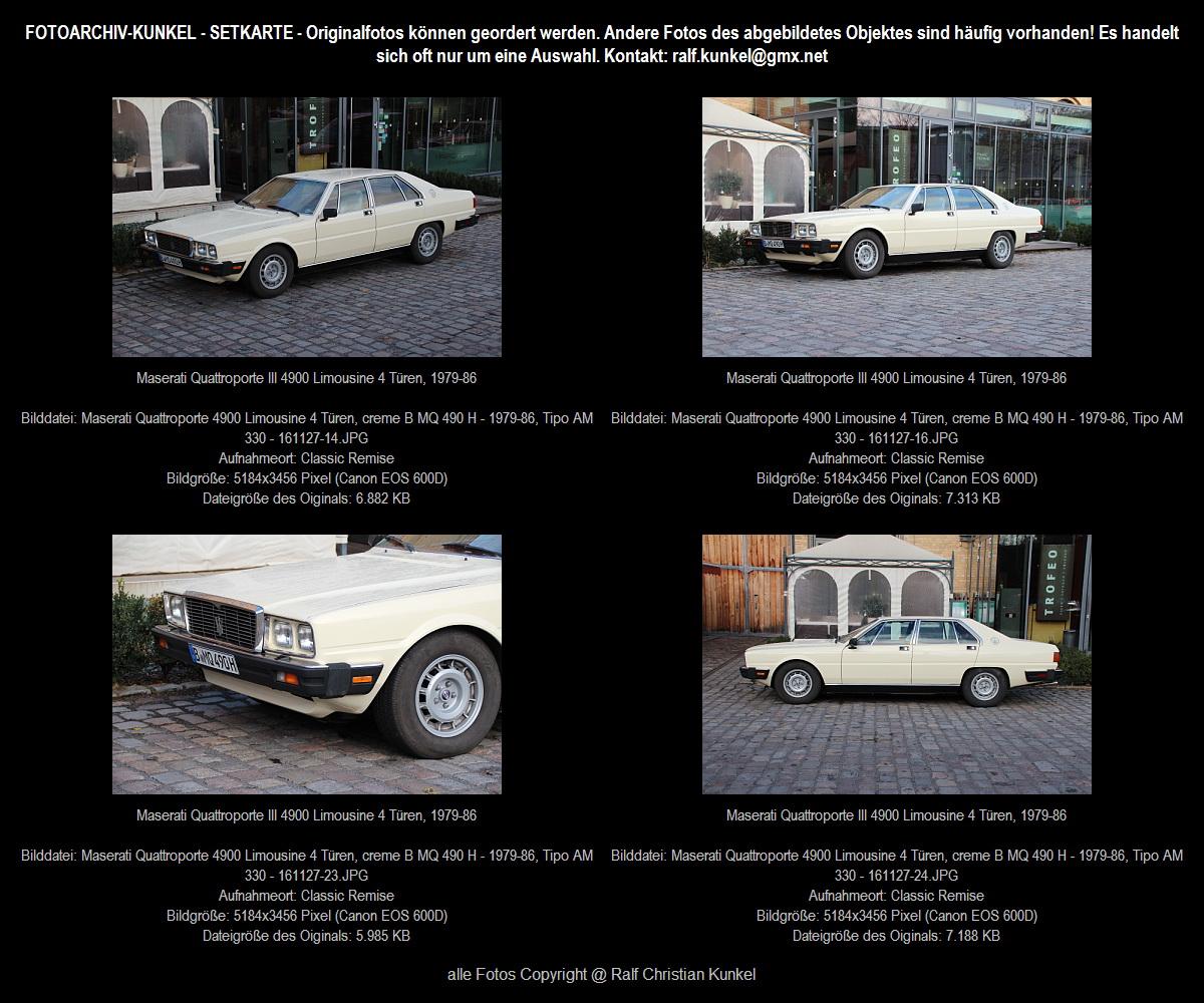 Maserati Quattroporte 4900 Limousine 4 Türen, creme ...