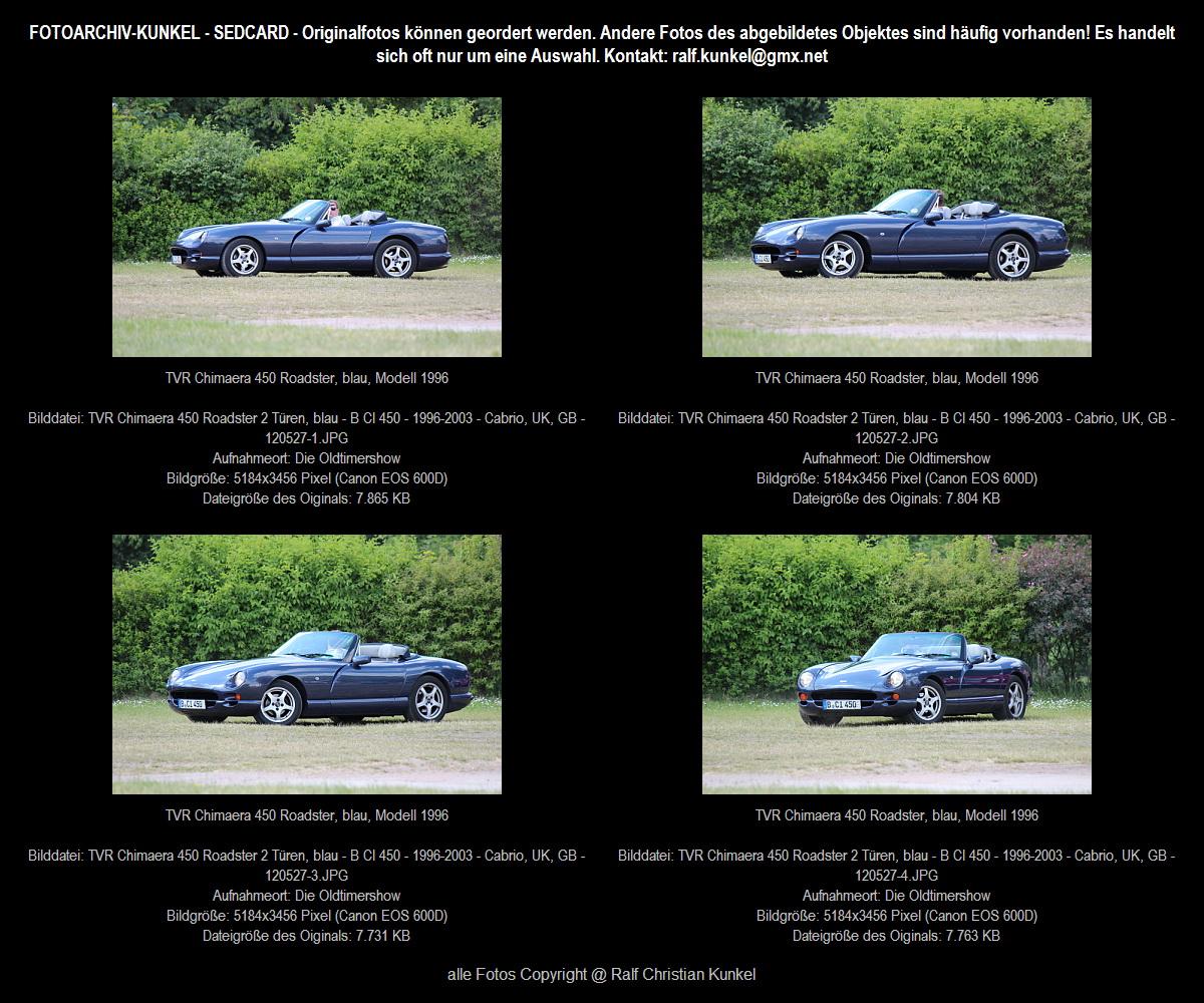 tvr chimaera 450 roadster 2 t ren blau bauzeit 1996 2003. Black Bedroom Furniture Sets. Home Design Ideas